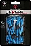 """40-Count 2.75"""" Zero Friction Victory 5-Prong Golf Tees (Blue) $2.60"""