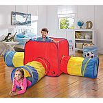 Discovery Kids Toy Tent & Tunnels 3 in 1 (Indoor/Outdoor) $28 + Free Shipping