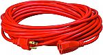 Coleman Cable Southwire 16/3 Vinyl Outdoor Extension Cord, Orange, 50-Feet $9.74