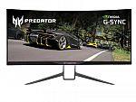 "34"" Acer Predator X34P 3440x1440 21:9 IPS Gaming Monitor $699"