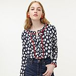 J.Crew - Extra 70% Off Sale: Ruffle Blouse $15 & More + Free Shipping