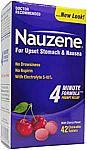 42-Ct Nauzene Upset Stomach & Nausea Relief Chewable Tablets (Wild Cherry) $4.70