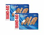 100-Ct Band-Aid Flexible Fabric Adhesive Bandages 2 for $9.63