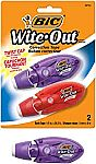 2-Count BIC Wite-Out Tape $2,47, 24-ct Mechanical Pencil $2.65 & More