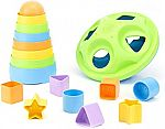 Green Toys Stacker & Shape Sorter Set $10.30