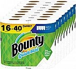 16 Family Rolls Bounty Quick-Size Paper Towels (40 Regular Rolls) $39 and more