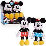"11"" Minnie Mouse Classic Mickey & Minnie Kissing Plush $7.80"