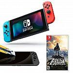 Nintendo Switch Console (Neon Joy-Con) w/ The Legend of Zelda: Breath of the Wild $375