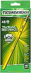 48-Count Ticonderoga #2 Soft Graphite Pencils (Yellow) $4.30