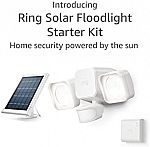 Ring Solar Floodlight, Outdoor Motion-Sensor Security Light Starter Kit $72, 2-Pack Solar Steplight $64 and more