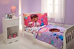 Disney Doc McStuffin The Doc Is In 4 Piece Toddler Bed Set $21 & More