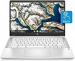"HP Chromebook 14"" HD Touchscreen Laptop (N4000, 4GB, 32GB 14a-na0040nr) $299.99"