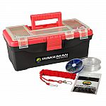55-Piece Wakeman Outdoors Fishing Tackle Box / Tackle Kit (Red) $15
