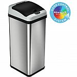 iTouchless 13 Gal. Stainless Steel Motion Sensing Touchless Trash Can $84 & More