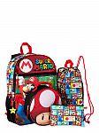 Super Mario 5 Piece Backpack Set $12.99