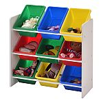Muscle Rack Kids Storage Organizer with 9 Bins (White) $26.48