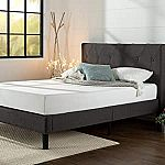 Zinus Shalini Upholstered Diamond Stitched Queen Platform Bed $150