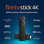 Fire TV Stick 4K Streaming Device (Latest Release) $35