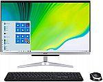 """Acer Aspire C24-963-UA91 AIO Desktop, 23.8"""" FHD (i3-1005G1, 8GB, 512GB) $549.99"""
