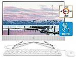 HP 24-inch All-in-One Touchscreen Desktop (Athlon Gold 3150U 8GB 512GB 24-df0040 White) $574.99
