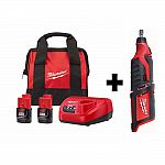 Milwaukee M12 12V Li-Ion Cordless Kit with Two 2.0 Ah Battery Kit $99 (Rotary Tool, Oscillating Tool, Angle Drill and more)