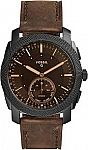 Fossil Q FTW1163 Machine Hybrid Watch with Leather Strap $31
