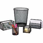 Staples Black Wire Mesh Desk Collection 5-Piece Accessory Kit $14.56 + Free Shipping