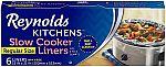 6-Ct Reynolds Kitchens Premium Slow Cooker Liners (3 for $5.50), 66-Ct Pre-Cut Parchment Paper $5.66