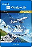 Microsoft Flight Simulator: Premium Deluxe Edition Windows 10 [Digital Code] $110