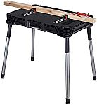 Keter Jobmade Portable Work Bench and Miter Saw Table $59.75 & More
