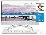 """HP 24"""" All-in-One Desktop (Athlon Silver 3050U 4GB 256GB 24-df0030) $499"""