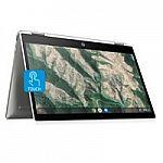 "HP X360 14"" Pentium Touch Chromebook Laptop (N5000 4GB 128GB 14b-ca0061wm) $329"