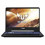 "ASUS TUF Gaming 15.6"" Full HD IPS Laptop (AMD Ryzen 5 3550H, GeForce GTX 1650, 8GB, 256GB SSD, FX505DT-WB52) $599"