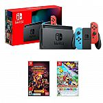 Nintendo Switch Console + Paper Mario: The Origami King + Minecraft: Dungeons $390