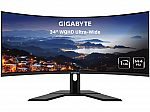 """GIGABYTE G34WQC 34"""" 144Hz Ultrawide Curved Monitor $390 after $10 Gift Card"""