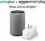 Echo Plus (2nd Generation) with Amazon Smart Plug $85 (Org $175)