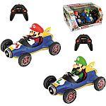 Mario Kart Mario and Luigi RC / Radio Control Cars, 2-pack $55