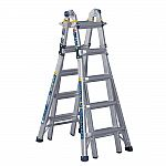 WERNER 22-ft Aluminum 5-in-1 Multi-Position Pro Ladder with Powerlite Rails $99.99