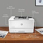 HP LaserJet Pro M404n Monochrome Laser Printer $130, M404dn (double sided) $160