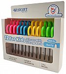 """12-Pack Westcott 5"""" Stainless Steel Kids' Scissors (Blunt Tip, Assorted Colors) $5.50 + Free Shipping"""