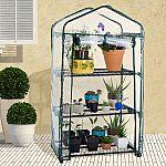 Pure Garden 3-Shelf Mini Greenhouse & Cover $15.39