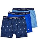 (Today Only) Macys - Up to 65% Off Underwear & More: Polo Ralph Lauren Men's 3-Pk. Boxer Briefs $14.88 (65% Off) & More Underwears and Pajamas
