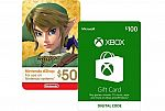 10% off XBox and Nintendo Gift Cards
