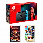 Nintendo Switch 32GB Console + Minecraft Dungeons + Super Mario 3D All-Stars $390