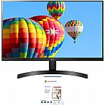 "LG 27"" FHD Borderless FreeSync Monitor 27ML600M-B + Microsoft 365 $159"
