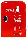 Classic Coca-Cola 6-Can Personal Mini Cooler & Fridge $25