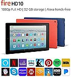 Amazon Certified Refurbished FireHD 10 32GB Tablet + Show Mode Charging Dock $69.99