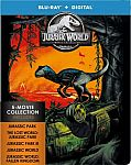 Jurassic World 5-Movie Collection Steelbook (Blu-ray + Digital) $13
