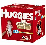 Buy 3 Huggies Boxes, Save $30: Huggies Plus Diapers Sizes 1 - 2 (3 for $90) & More