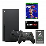 Xbox Series X NBA 2K21 and Game Pass System Bundle with $20 GameStop Gift Card $695